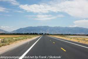 View of high desert Idaho on Interstate 15