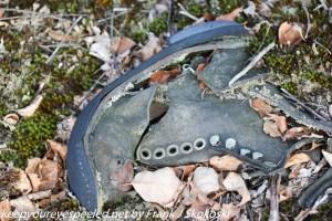old shoe in strip mine
