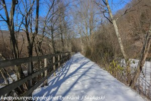 snow covered trail on Lehigh Canal