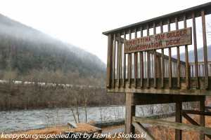 observation deck along Lehigh river