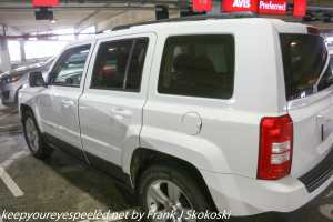 Jeep Patriot rental car at airport