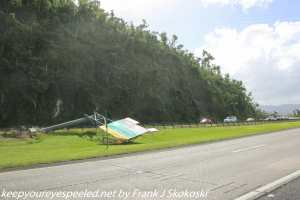 road sign destroyed in hurricane