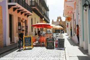 outdoor cafe old San Juan