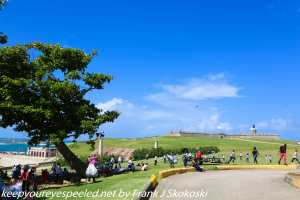 """park and view of """"el Morro"""""""