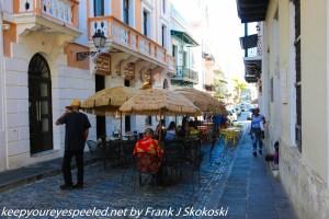 outdoor restaurant old San Juan
