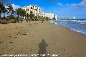 shadow on sand on beach