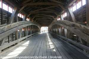 interior of covered bridge