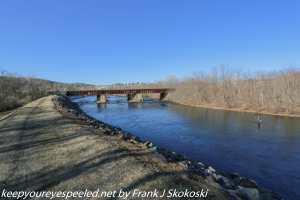 Bridge and deep blue Lehigh River