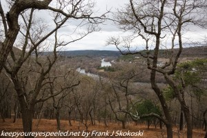 view of Lehigh River from chestnut oak trail at Lehigh Gap