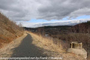 clouds over trail at Lehigh Gap