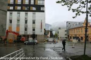 rainy streets in Tromso