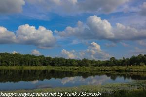 cumulus clouds over Lake Irene