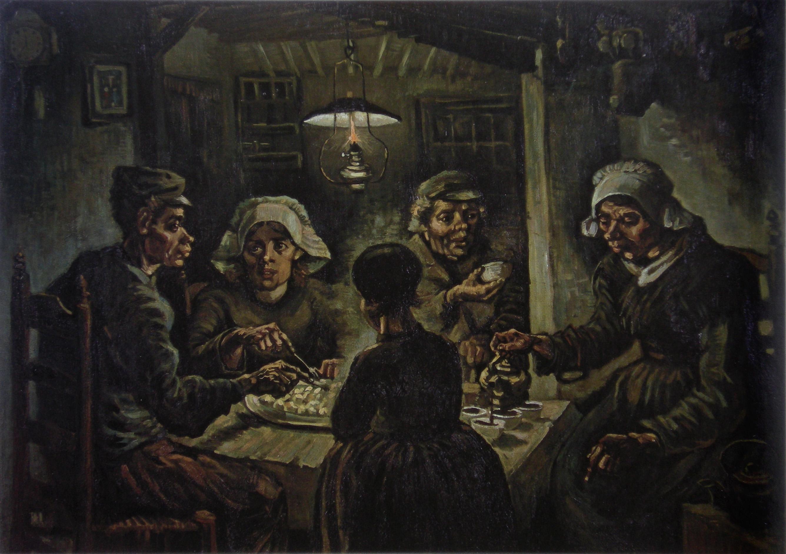 De aardappeleters (potato eaters) by Van Gogh