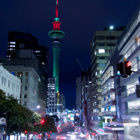 Sky Tower by night