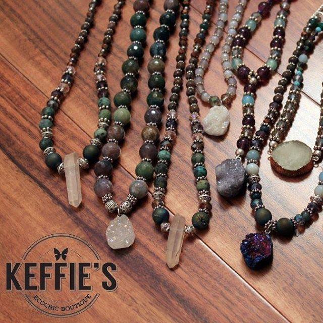 aromatherapyjewelry lavarock hematitestone crystaljewelry amazonite keffiesjewels keffiesecochic africanturquoise agate indianagatehellip