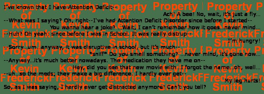 The 'Attention Deficit Disordder' Poem (A Poem for Performance)