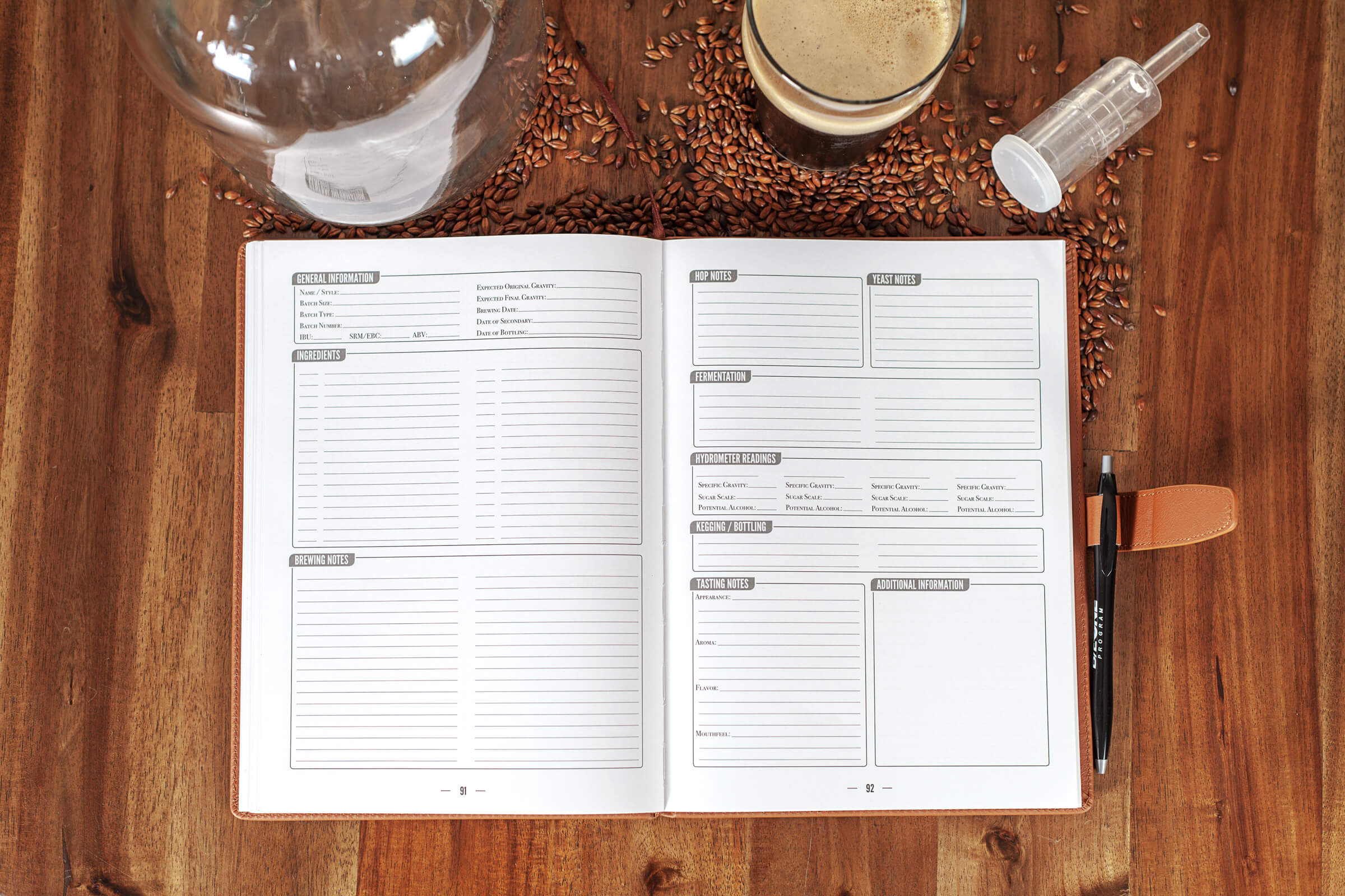Home Brew Journal - A Logbook For Craft Beer Recipes