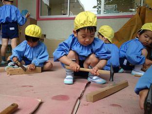 年少も木工