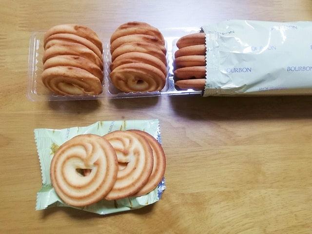 新旧のバタークッキーの入れ物