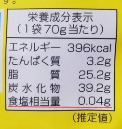 ポテトの素顔の食塩相当量