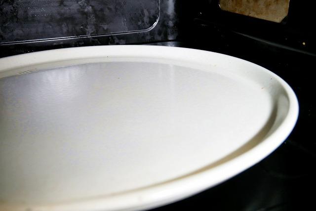 電子レンジお皿の汚れ