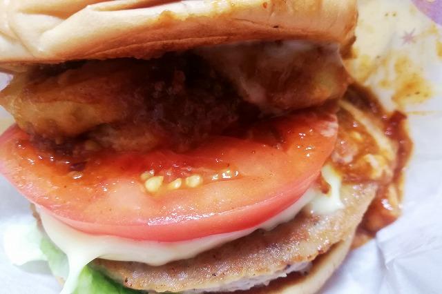 モスバーガーの輪切りトマト