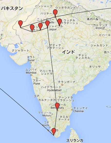 インド移動経路