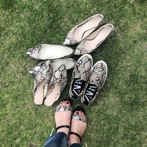 ヘビ柄の靴