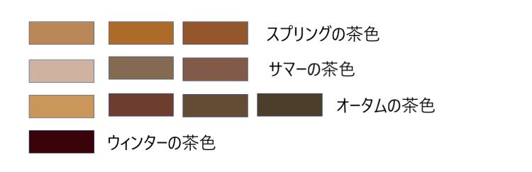 パーソナルカラー茶色