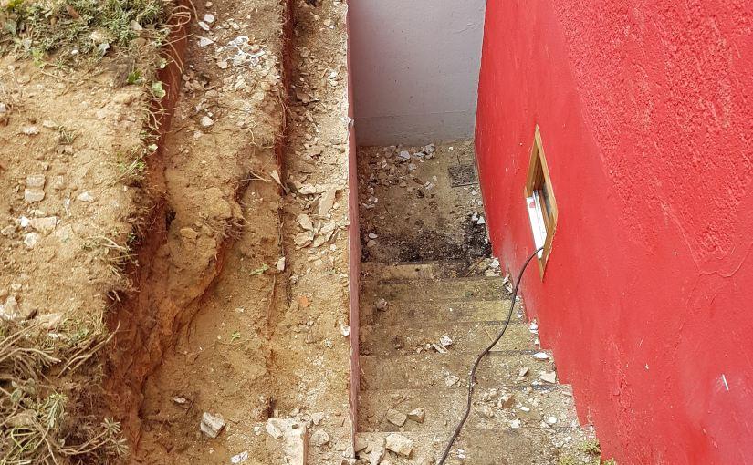 Kellereingangn nach dem Abriss