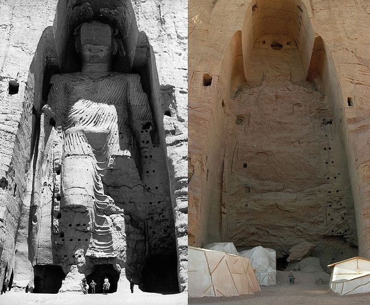 727px-Taller_Buddha_of_Bamiyan_before_and_after_destruction