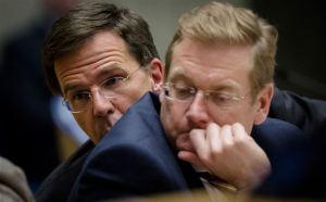 Nicht so begeistert: Rutte und Van der Steur