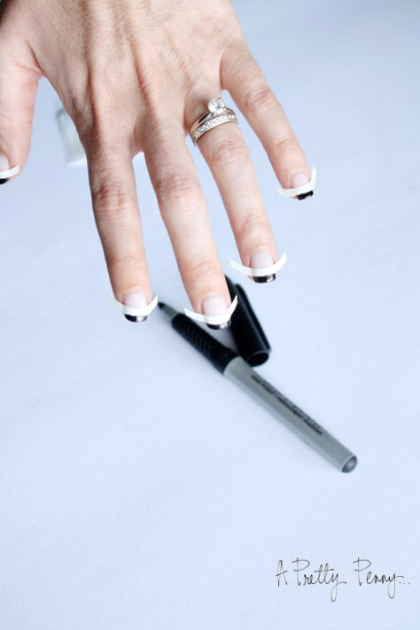 A Pretty Penny | Foolproof DIY Black-Tipped French Manicure Preview