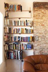 Copper Pipe Bookshelves