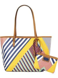 A Pretty Penny | Summer Carry-alls: Nine West Prep It Up Multi-Stripe Shoulder Tote