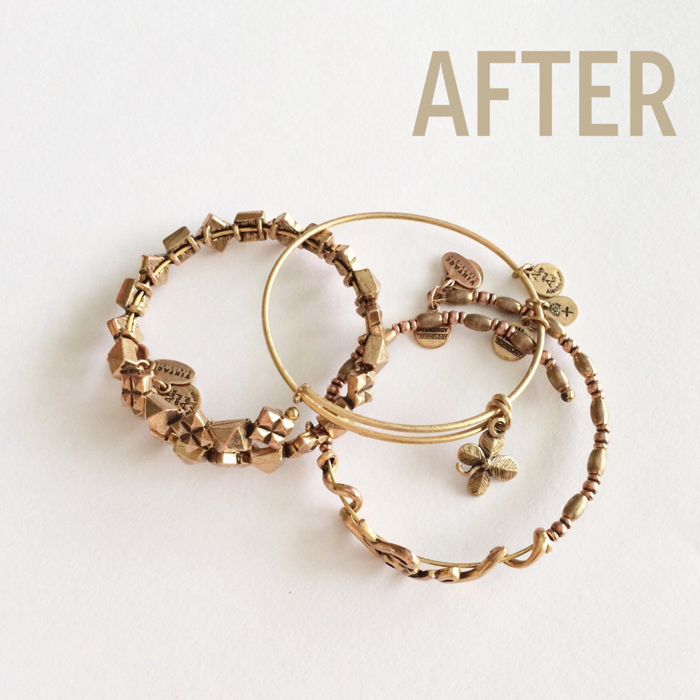 A Pretty Penny - How to Clean Brass Alex & Ani Bracelets - AFTER