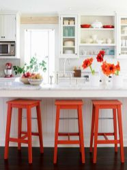 Orange Painted Barstool