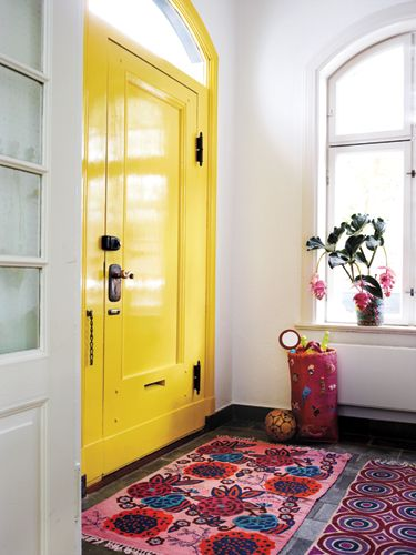 Bright Yellow Front Door
