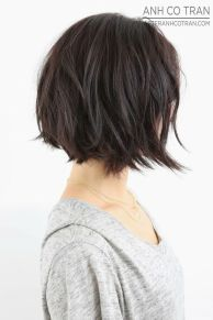 dark brown bob