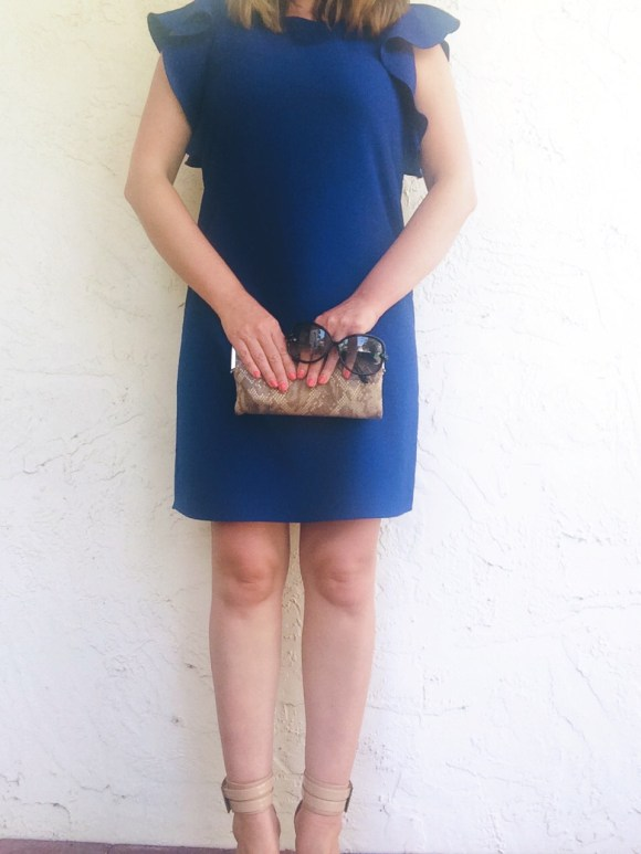 A Pretty Penny Bar III Flutter Sleeve Dress