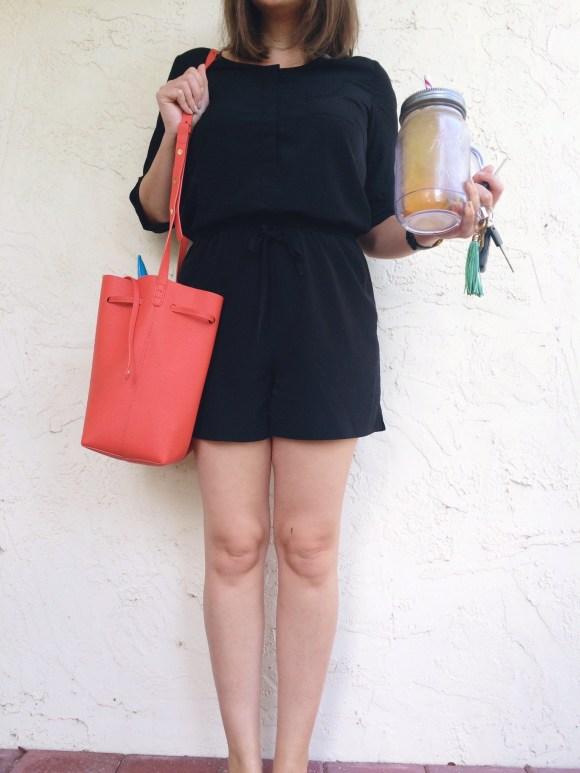 A Pretty Penny Personal Style Blog LOFT Black Romper Casual Style