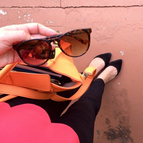 A Pretty Penny, Style Blogger, Target Sunglasses, Scalloped Blouse, Casual Style, Budget Style