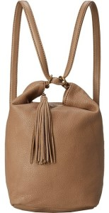 Hobo Blaze Convertible Leather Bag in Mushroom