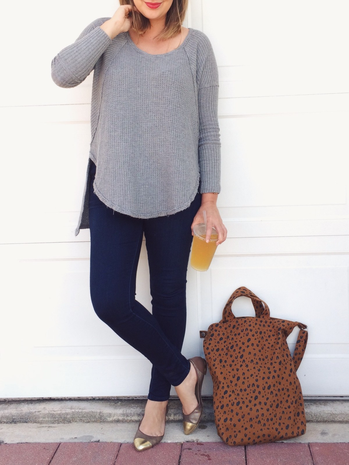 OOTD: We the Free Ventura thermal with AE jeggings and Brian Atwood flats. keiralennox.com