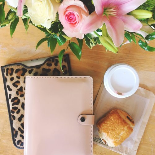 Filofax The Original A5 Planner in Patent Nude
