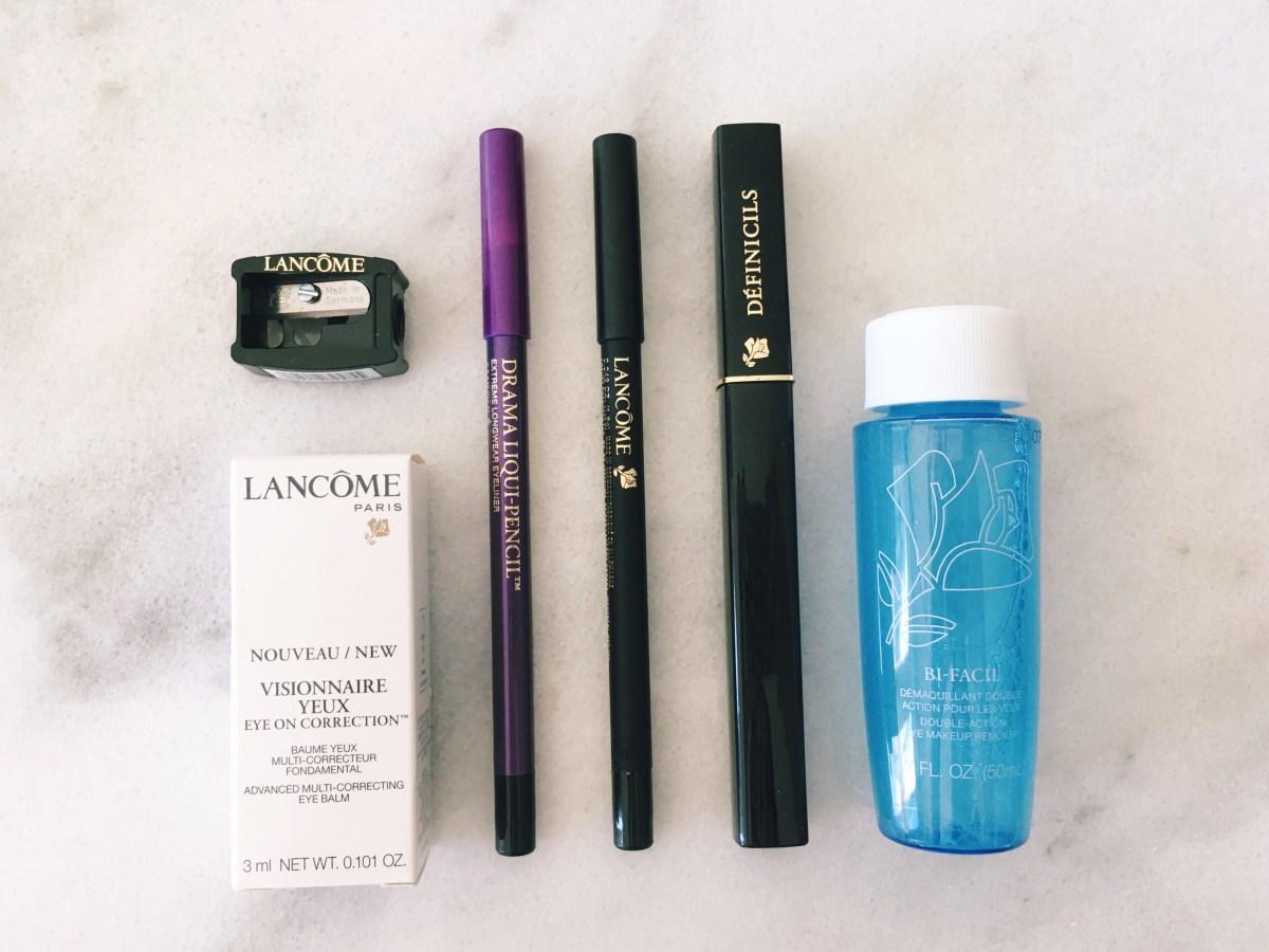 Lancome Drama Liqui-Pencil Eyeliner and Definicils Mascara Review, Subtle Purple Eyeliner Makeup Look