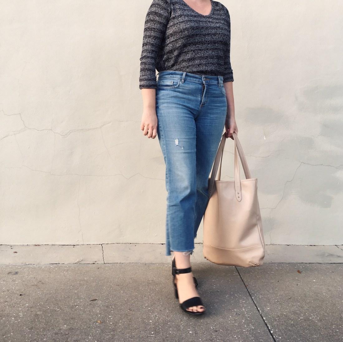 DIY step hem jeans