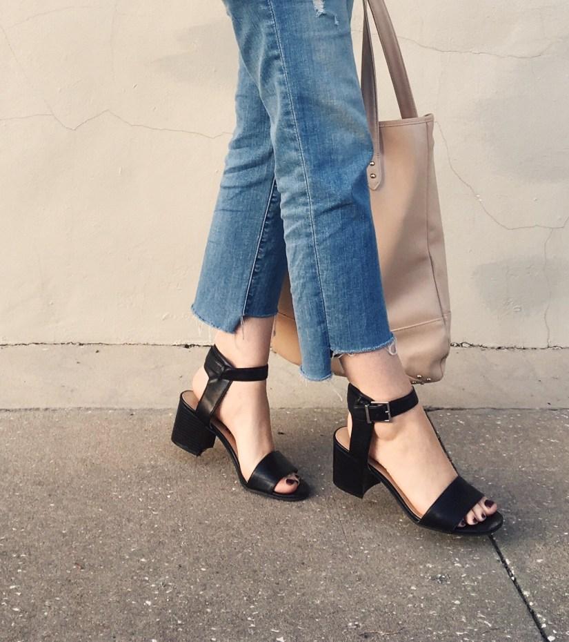 DIY step hem jeans, 2017 denim trends, budget style, women's fashion, style blogger