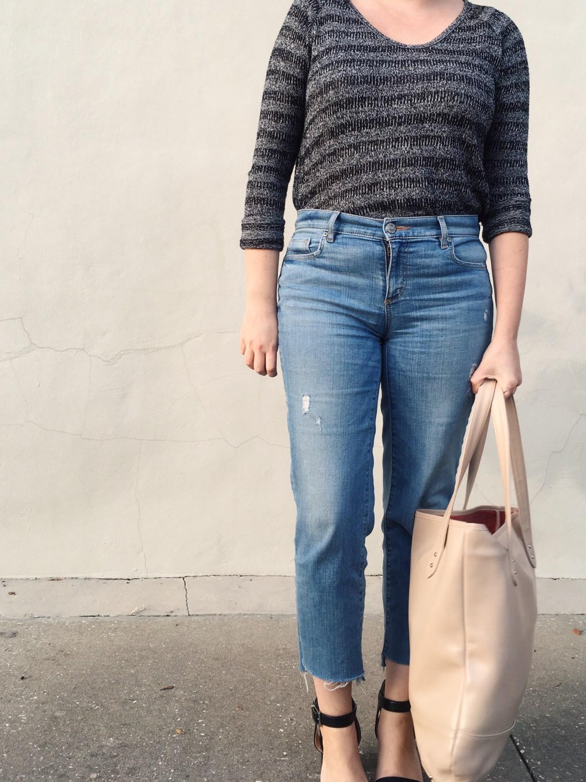 DIY step hem jeans | keiralennox.com
