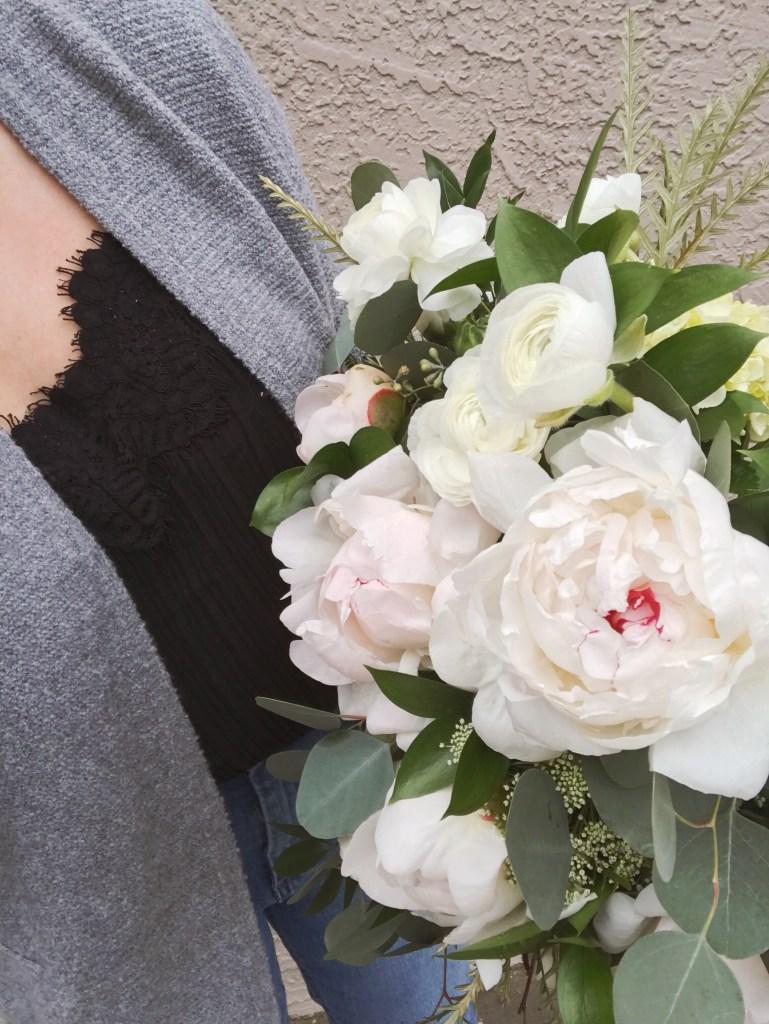 Bridal Bouquet Peonies Ranunculus